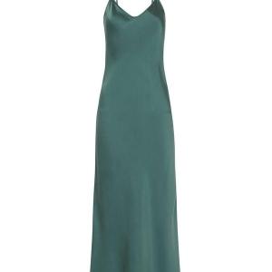 Silk Slip Dress Emerald Silk Laundry